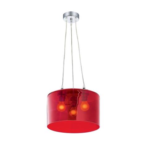 Závěsné svítidlo MODERNA 3xE27/80W červená