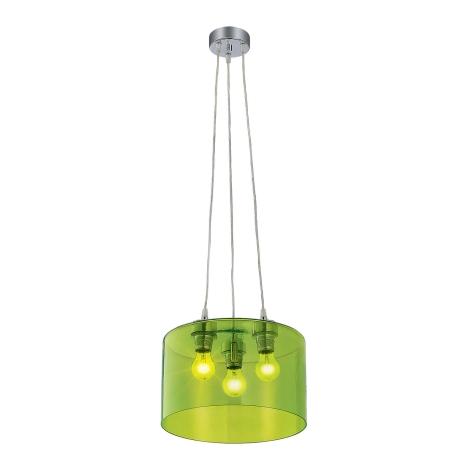 Závěsné svítidlo MODERNA 3xE27/80W zelená