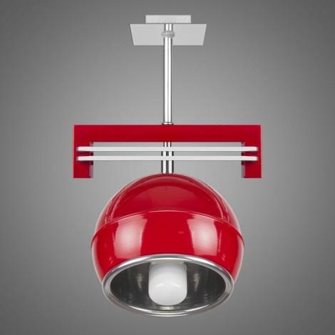Závěsné svítidlo QUARA SG/KU/1/R 1xE27/60W červená