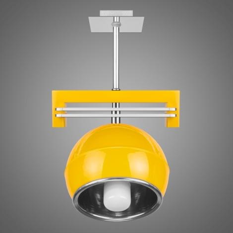 Závěsné svítidlo QUARA SG/KU/1/Y 1xE27/60W žlutá