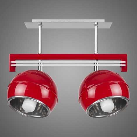 Závěsné svítidlo QUARA SG/KU/2/R 2xE27/60W červená