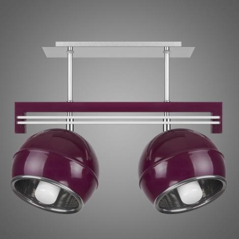 Závěsné svítidlo QUARA SG/KU/2/V 2xE27/60W fialová