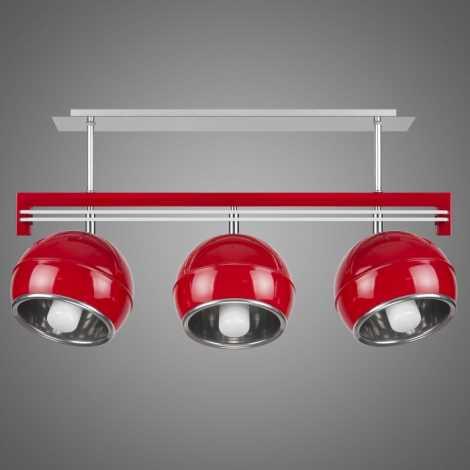 Závěsné svítidlo QUARA SG/KU/3/R 3xE27/60W červená
