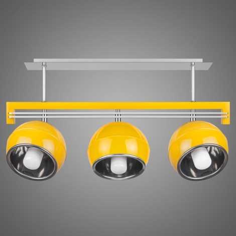 Závěsné svítidlo QUARA SG/KU/3/Y 3xE27/60W žlutá