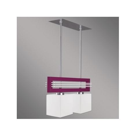 Závěsné svítidlo SANGA 2xE14/60W fialová