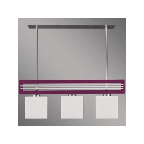 Závěsné svítidlo SANGA 3xE14/60W fialová