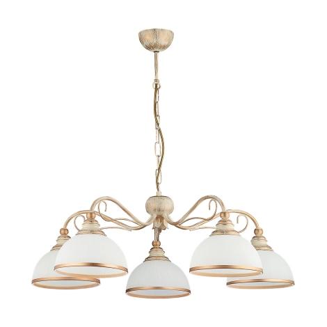 Závěsné svítidlo XSARA 5xE27/60W patina - zlatá