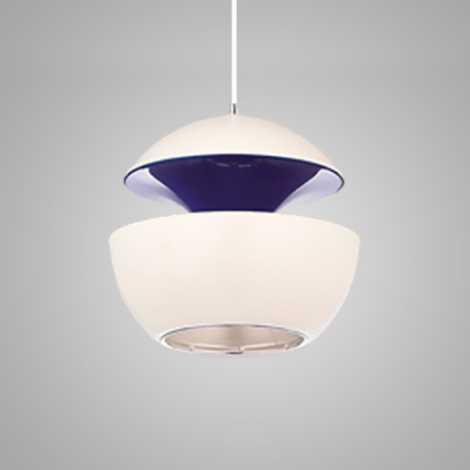 Závěsný lustr COSMO COM 1xE14/40W bílá/fialová