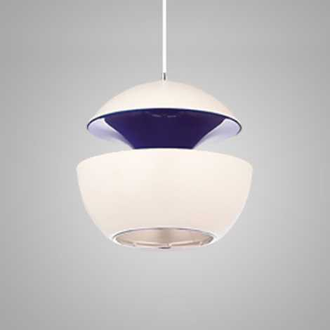 Závěsný lustr COSMO COM 1xE14/40W bílá/modrá