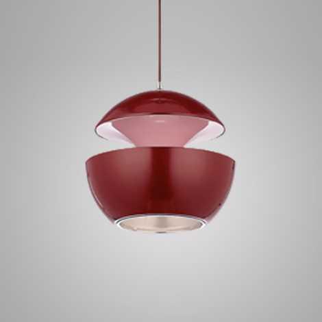 Závěsný lustr COSMO COM 1xE14/40W červená/růžová