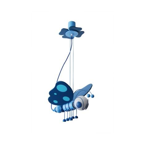 Závěsný lustr MOTÝL modrá