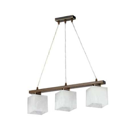 Závěsný lustr POLA PO3 3xE27/60W patina - zlatá