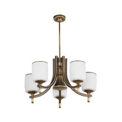 Závěsný lustr SONATA ST5 5xE27/60W patina - zlatá